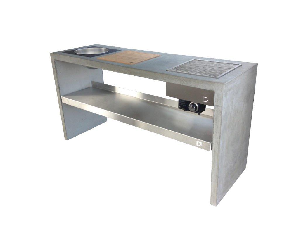 OneQ Beton Outdoorküche mit individuellen Modulen